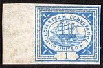 C. 1872 St. Lucia Steam Conveyance Company Limited 1 pence stamp.jpg