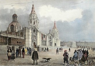 Lima - Lima Cathedral in 1846