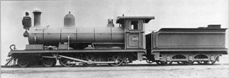 CGR 5th Class 4-6-0 1890 - Midland System no. 293, renumbered 493, then OVGS no. 42, CSAR no. 319 and SAR no. 0319, as built