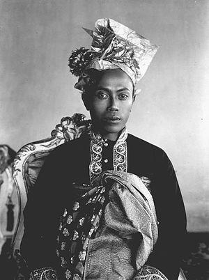Karangasem Regency - Portrait of Gusti Bagus Djilantik, regent of Karangasem (1915-1925)