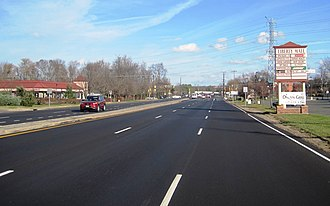 County Route 522 (New Jersey) - Divided portion of CR 522 in South Brunswick