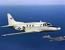 CT-39E Sabreliner VR-30 in flight 1980.JPEG