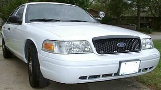 Grille (car) - Crown Victoria Police Interceptor black honeycomb grille