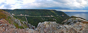 Cabot Trail - The Cabot Trail viewed from the Skyline Trail