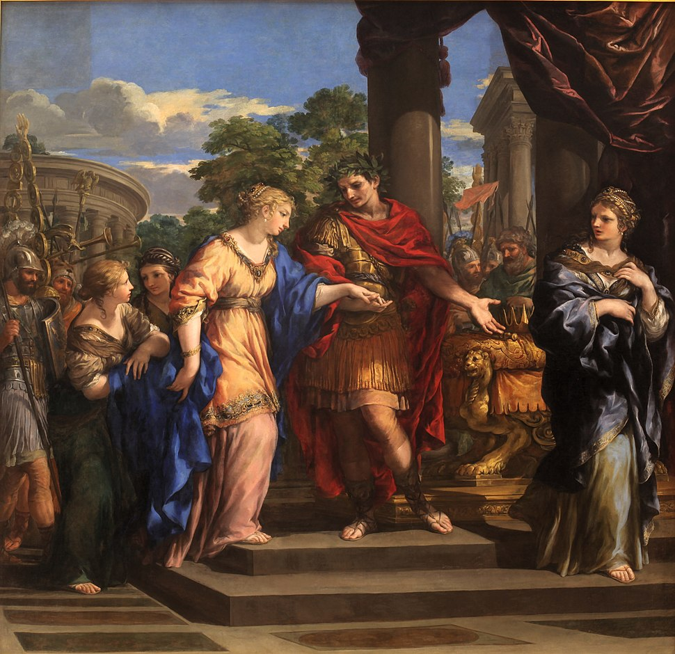 Caesar giving Cleopatra the Throne of Egypt-Pietro de Cortone-MBA Lyon A53-IMG 0355