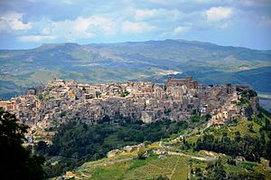 Calascibetta - Panorama of Calascibetta
