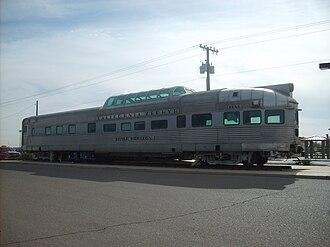 Maricopa, Arizona - California Zephyr railcar at the Maricopa, AZ Amtrak station