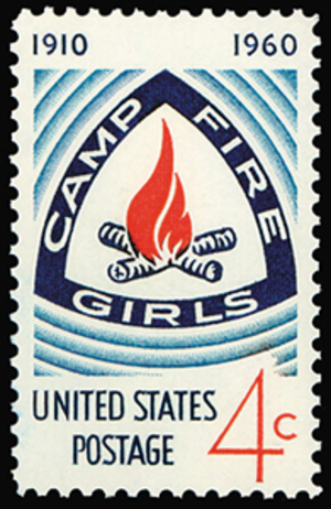 Camp Fire - Image: Camp Fire Girls stamp