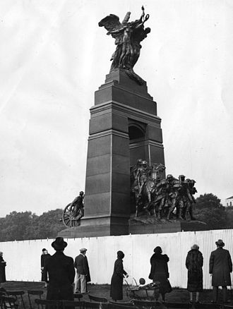 National War Memorial (Canada) - The sculptures on display in Hyde Park, London
