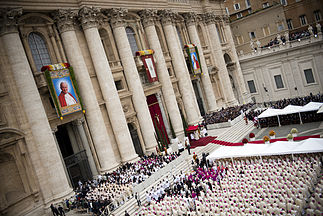 The canonization ceremony of John XXIII and John Paul II Canonization 2014- The Canonization of Saint John XXIII and Saint John Paul II (14036819834).jpg