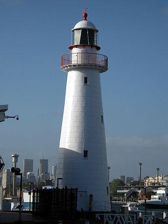 Cape Bowling Green Light - Cape Bowling Green Lighthouse at the Australian National Maritime Museum, 2008