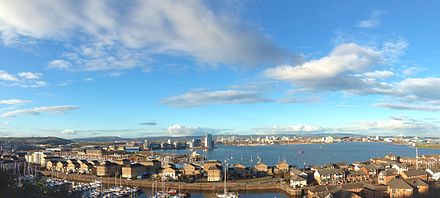 Overlooking Cardiff Bay, viewed from Penarth Cardiff Bay from Penarth.jpg