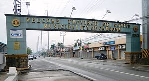 Carmona, Cavite - Carmona welcome sign