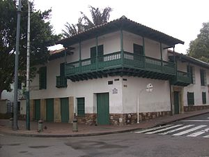 Colombian Declaration of Independence - House of Carlos Jose Gonzalez Llorente. Cry of Independence, Bogota.