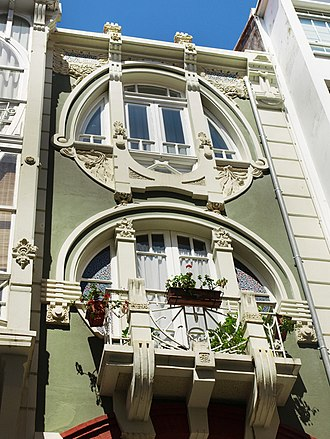Ferrol, Galicia - Art Nouveau building in Ferrol, designed by Rodolfo Ucha