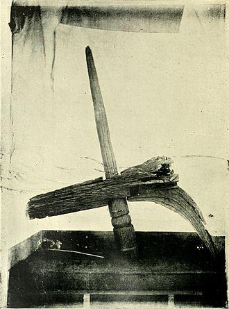 Khonds - Meriah sacrifice post.