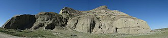 Big Muddy Badlands - Panorama of Castle Butte