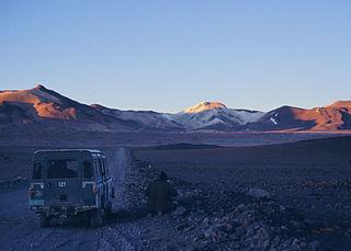 Cerro Escorial stratovolcano at the border of Argentina and Chile