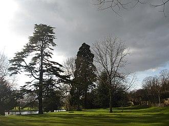 Caversham Court - View of Caversham Court gardens and the River Thames