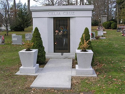 Celia Cruz's mausoleum in Woodlawn Cemetery, The Bronx, New York Celia Cruz Mausoleum 12-2008.jpg