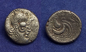 Armorica - A Celtic stater made from billon alloy found in Armorica