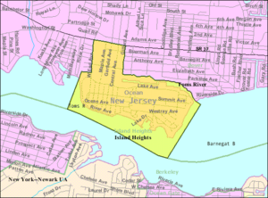 Island Heights, New Jersey - Image: Census Bureau map of Island Heights, New Jersey