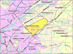 Census Bureau map of Moorestown Township, New Jersey