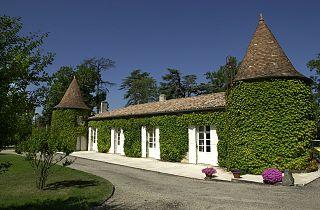 Château Suau (Capian) Winery in the Bordeaux area in France