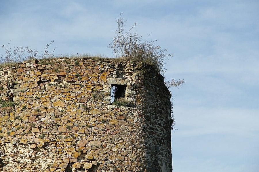 Détail du sommet de la tour.