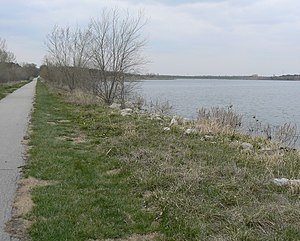 Trails in Omaha - Wehrspann Lake Trail at the Chalco Hills Recreation Area in southwest Omaha.