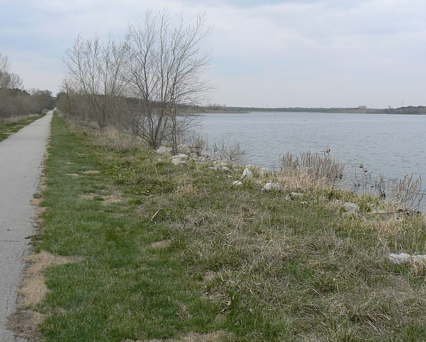 Wehrspann Lake Trail at the Chalco Hills Recreation Area in southwest Omaha.