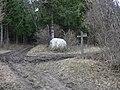 Chalk ball by bridleway junction - geograph.org.uk - 1747685.jpg