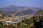 Champhai, Mizoram, from south, with Zotlang in the foreground.jpg