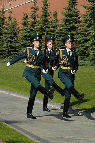 Kremlin Regiment - Changing of the Guard at the Tomb of the Unknown Soldier in Alexander Garden, Moscow