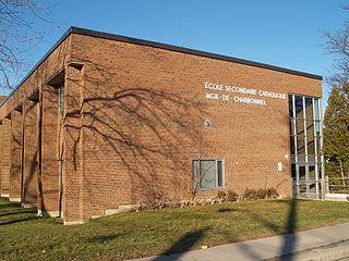 École secondaire catholique Monseigneur-de-Charbonnel Bill 30 catholic high school in Newtonbrook, North York, Ontario, Canada