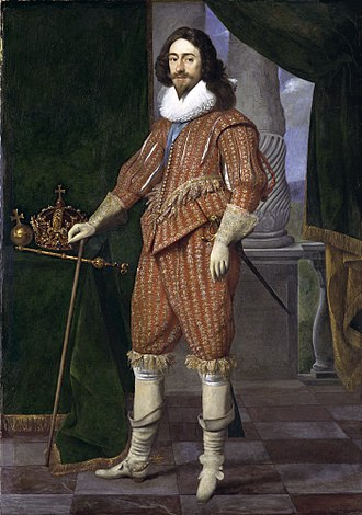 Doublet (clothing) - Charles I in the doublet and breeches fastened with points of 1629, by Daniel Mijtens the Elder.