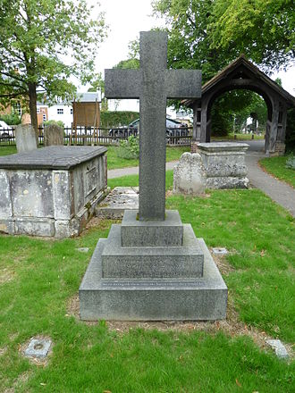 Charles James Carey - Charles Carey's grave at St Andrew's church, Totteridge.