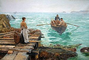 Charles Napier Hemy - Image: Charles Napier Hemy Waiting 1895