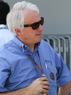 Charlie Whiting podczas Grand Prix Japonii w 2010