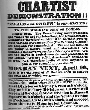 Chartism - Poster advertising the Great Chartist Meeting