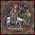Chartres VITRAIL DE LA VIE DE JÉSUS-CHRIST Motiv 16 La fuite en Égypte (la Sainte Famille).jpg