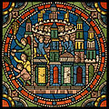 Chartres VITRAIL DE LA VIE DE JÉSUS-CHRIST Motiv 24 Les Rameaux - les habitants de Jérusalem sortant de la ville et venant au--devant du Sauveur.jpg