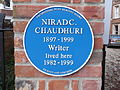 Chaudhuri blue plaque, Oxford.JPG
