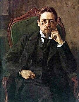 Chekhov retratado em 1898 por Osip Braz