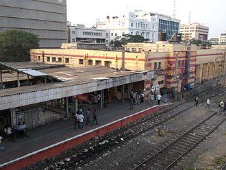 Chennai Beach railway station - Main building of Chennai Beach station