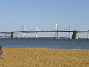 Chesapeake Bay Bridge - Chesapeake Bay Bridge from Sandy Point State Park