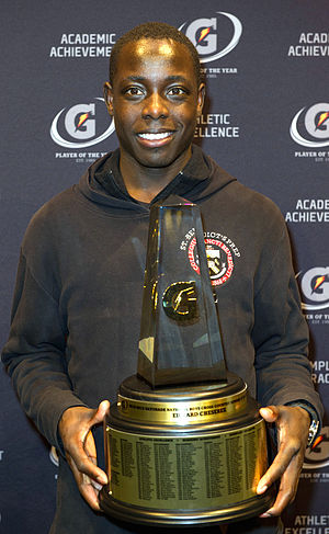 Edward Cheserek - Cheserek with the 2012-2013 Gatorade National Cross-Country Runner of the Year Award