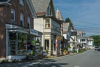 Chester, Vermont - Shops along Main Street (Vermont Route 11)