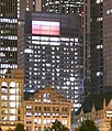 Chicago Grant Park night pano (One South Dearborn lit red for Hawks).jpg