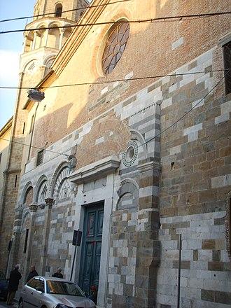 San Nicola, Pisa - Remains of the façade.
